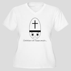 HappyChristians Women's Plus Size V-Neck T-Shirt