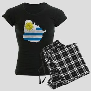 MapOfUruguay1 Women's Dark Pajamas