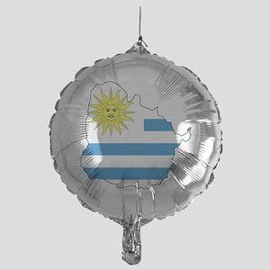 MapOfUruguay1 Mylar Balloon