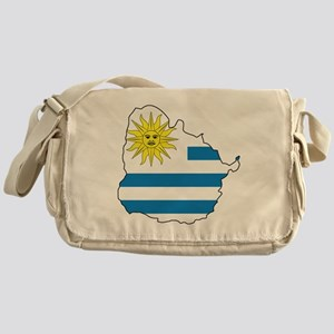 MapOfUruguay1 Messenger Bag
