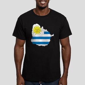 MapOfUruguay1 Men's Fitted T-Shirt (dark)