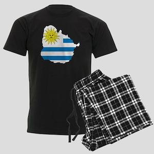 MapOfUruguay1 Men's Dark Pajamas