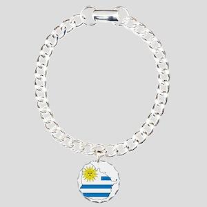 MapOfUruguay1 Charm Bracelet, One Charm