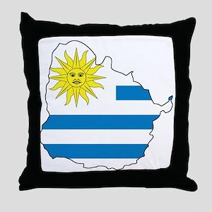 MapOfUruguay1 Throw Pillow