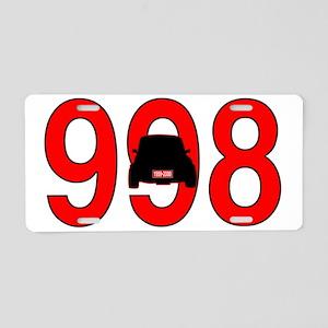 mini -998 Aluminum License Plate