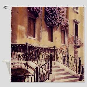 2-ITALIAN STAIRS TALL Shower Curtain