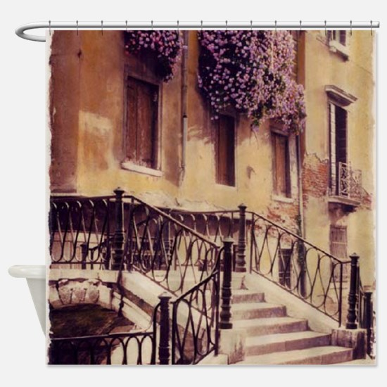 2-ITALIAN STAIRS TALL Shower Curtain