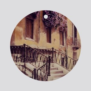 2-ITALIAN STAIRS TALL Round Ornament