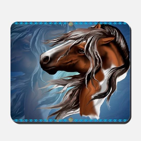 Paint Horse Face-Yardsign Mousepad