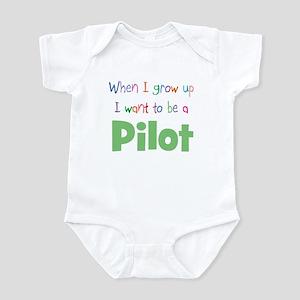 When I Grow Up Pilot Infant Bodysuit