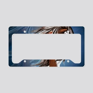 Paint Horse and Feathers-Yard License Plate Holder
