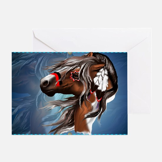 Paint Horse and Feathers-Yardsign Greeting Card