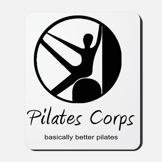 Pilates Corps w/tag in Black Mousepad