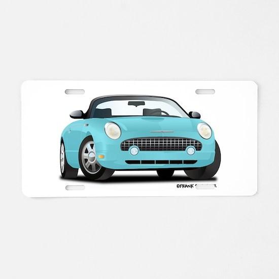 02 05_T_Bird_Front_Blue Aluminum License Plate