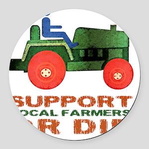 supportFarmersOrDie Round Car Magnet
