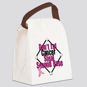 steal second base Canvas Lunch Bag