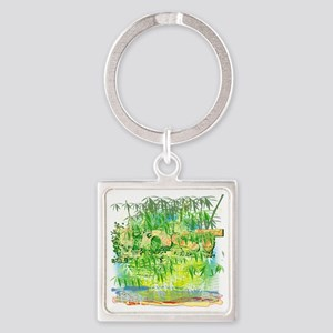 Lost become the light finale Square Keychain