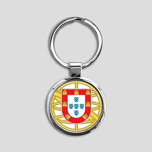 portugal5 Round Keychain