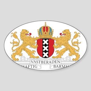 amsterdam_city_coa1 Sticker (Oval)
