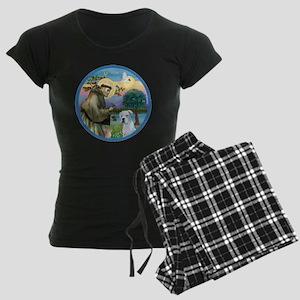 R-StFrancis-White Boxer (W) Women's Dark Pajamas