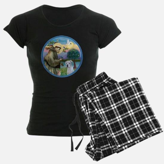 R-StFrancis-White Boxer (W) Pajamas