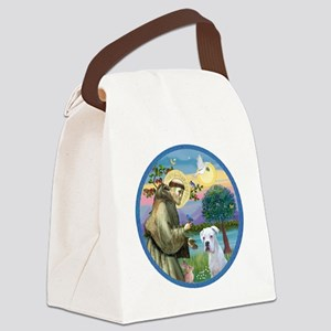 R-StFrancis-White Boxer (W) Canvas Lunch Bag