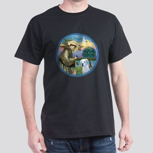 R-StFrancis-White Boxer (W) Dark T-Shirt
