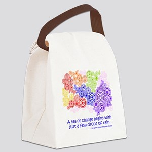 raindrops 2 Canvas Lunch Bag