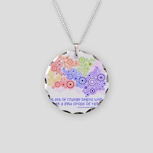 raindrops 2 Necklace Circle Charm
