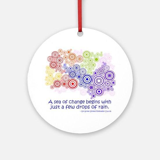 raindrops 2 Round Ornament