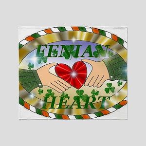 FENIAN HEART Throw Blanket