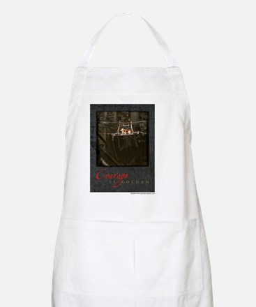 Courage is Golden White Shirts Apron