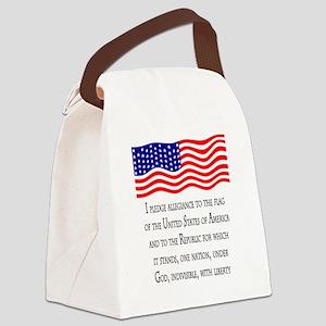 pledge light 2 Canvas Lunch Bag