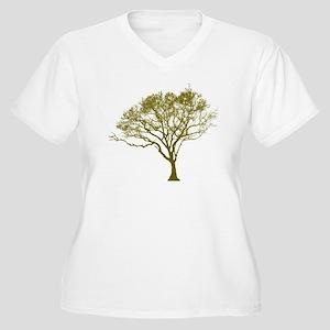 Green Tree Women's Plus Size V-Neck T-Shirt