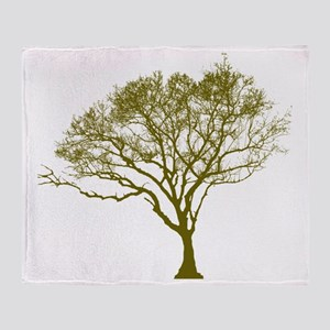 Green Tree Throw Blanket
