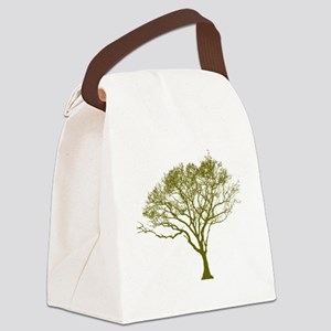 Green Tree Canvas Lunch Bag