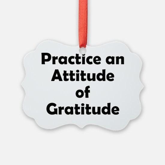 attitude-gratitude Ornament