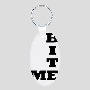 Bite Me Sigg Aluminum Oval Keychain