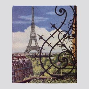 eifel tower wrought iron Throw Blanket