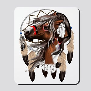 Paint Horse Dreamcathcer Trans Mousepad