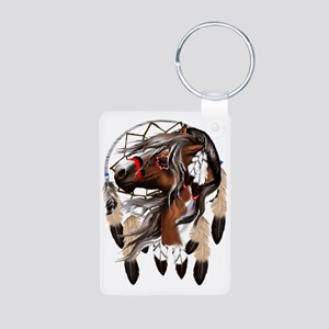 Paint Horse Dreamcathcer T Aluminum Photo Keychain