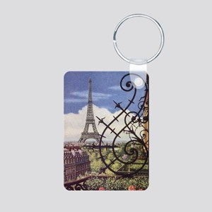 eifel tower wrought iron Aluminum Photo Keychain
