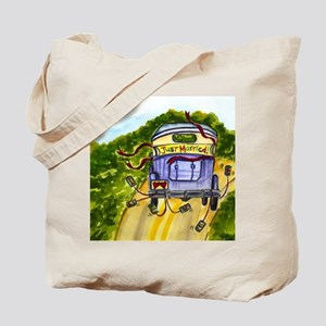 JUST MARRIED SQUARE Tote Bag