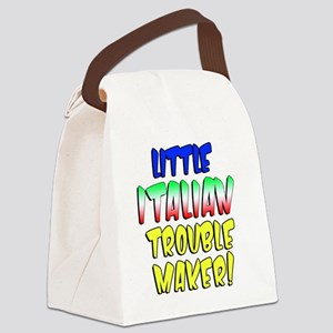Little Italian Trouble Maker Canvas Lunch Bag