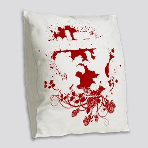 switzerland Burlap Throw Pillow
