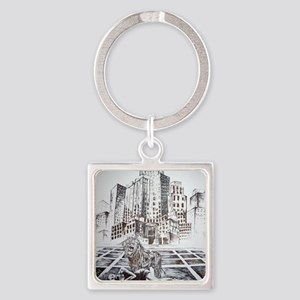 Rise Between Us 2 Square Keychain