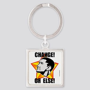 change_red_trans Square Keychain