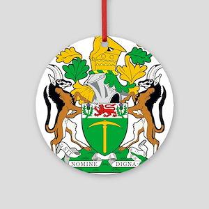 Rhodesia 2a name Round Ornament