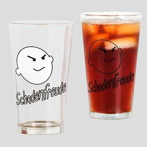 schadenfreude no bckgrnd 4 white Drinking Glass