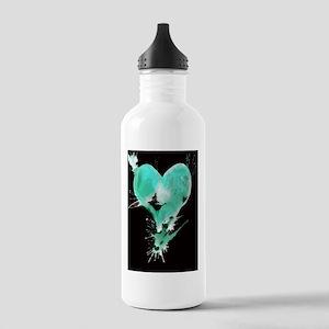 Black Heart Stainless Water Bottle 1.0L